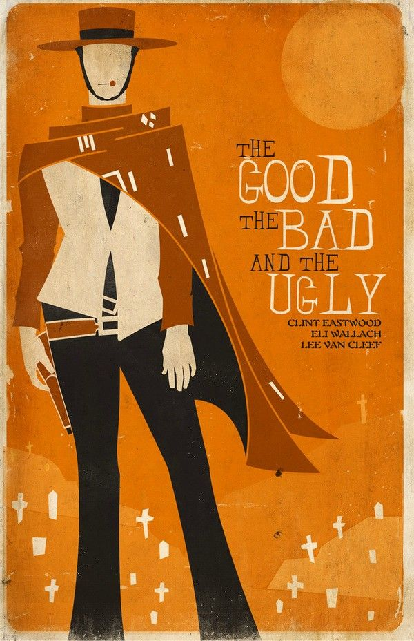 Good, Bad, Ugly minimalist movie poster