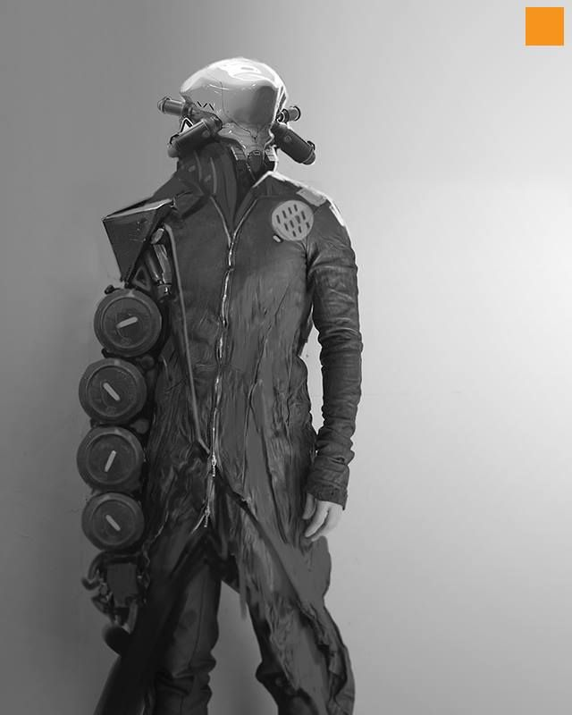 Sci Fi Humanoid Robot Concept Art