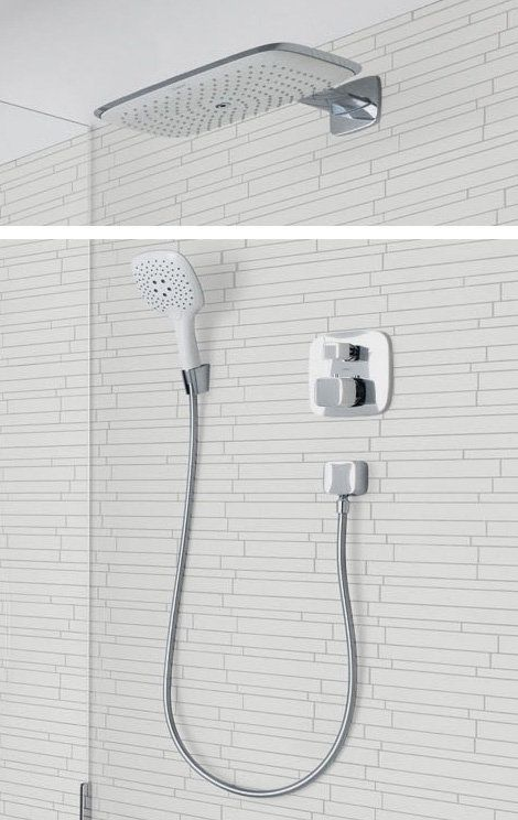 Hansgrohe Pura Vida/in Chrome with smaller hand shower