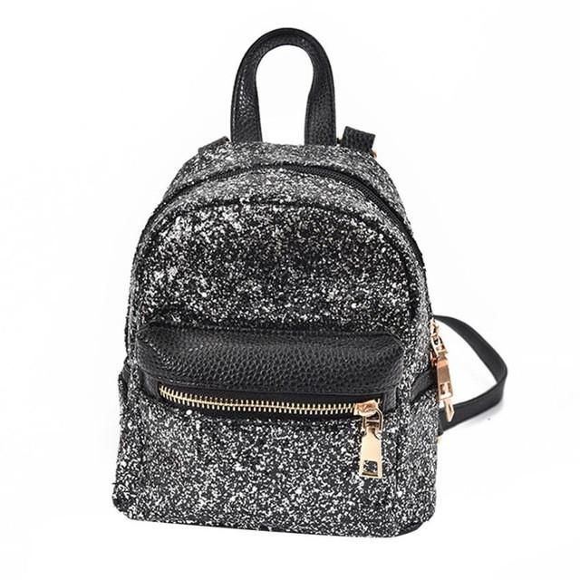 women backpacks leather 2017 School mini backpacks for girls Sequins Backpack for Ladies mochila feminina #0512YISI