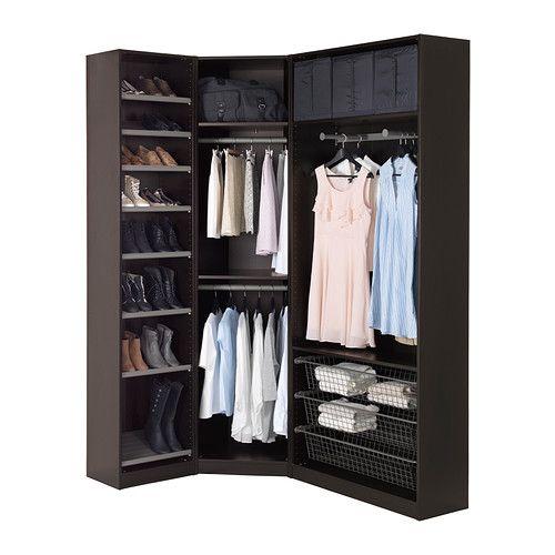 Pax wardrobe black brown ballstad white 48 3 8 68 1 for Bedroom simulator ikea