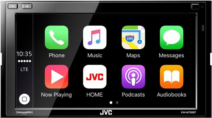 "JVC - 6.8"" - Android Auto/Apple CarPlay™ - Built-in Bluetooth - In-Dash Digital Media Receiver - Black"