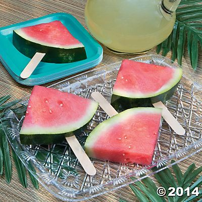 That same old fruit salad is so yesterday! It's time to spruce up your spread for National Luau Month and more with these refreshing Watermelon Pops.