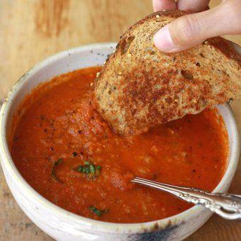 Soupe à la tomate et au basilic