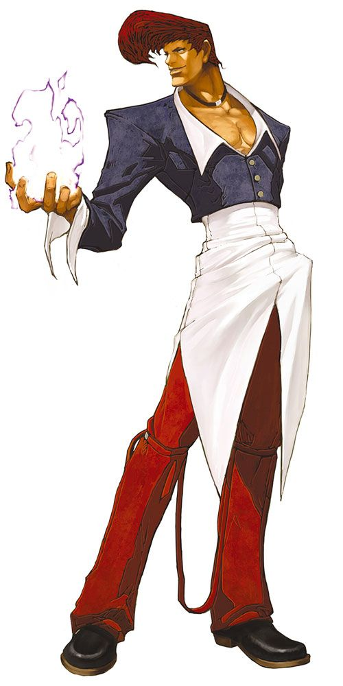 Iori Yagami from The King of Fighters 2002