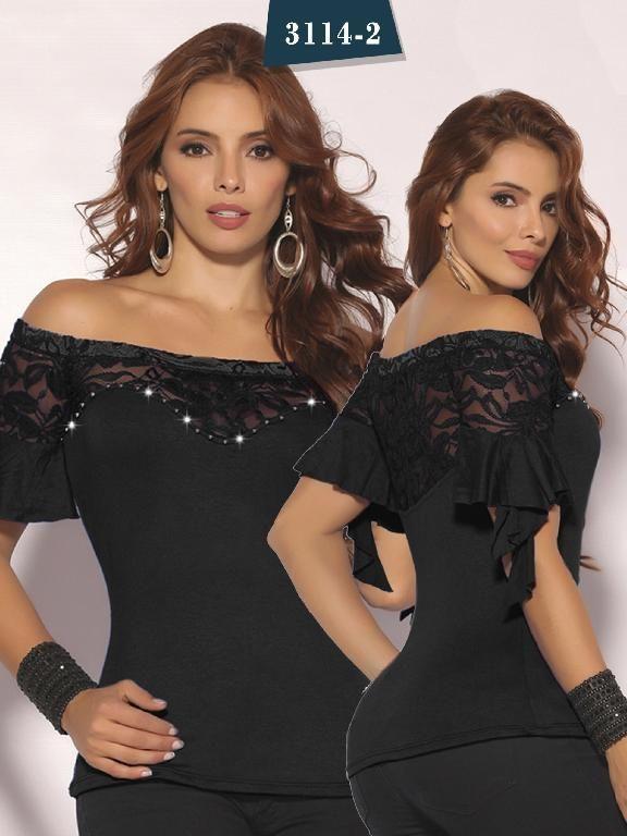 8033c5bda Blusa Moda Colombiana Cereza - Ref. 111 -3114-2 Negra