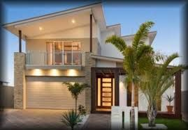modern two storey house small - Google Search