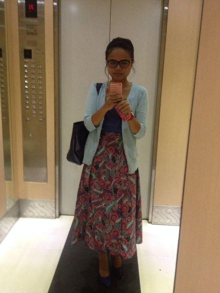 Long colorful batik skirts.