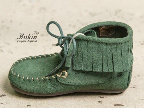 Zapatos verdes Maximo infantiles jcArS