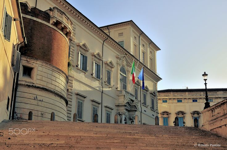 Rome: Home of the President... - Palazzo del Quirinale, residence of the President of Italy. Taken in Rome. (December 2011)