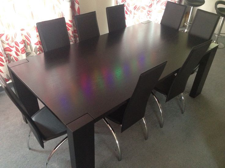 Solid Oak table with black stain