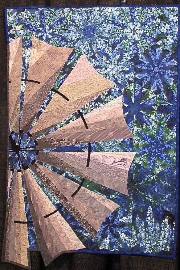 Windmill on Bluebonnet Hill by Kay Marburger of LaGrange, TX