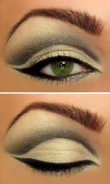 Green eyes, green eyeshadow