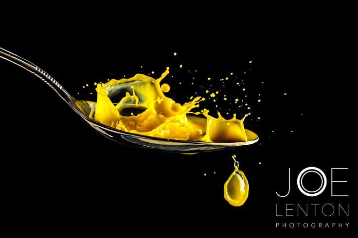 Orange splash on spoon #photography #splashphotography #specialeffects #orange #splash #creative