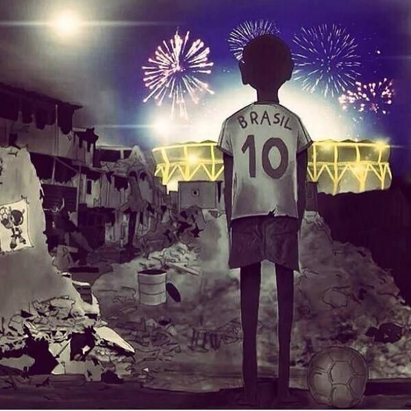 Another point of view of the world cup 2014.... how sad!