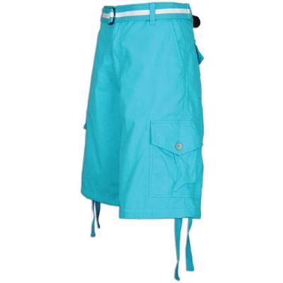 $19, Aquamarine Shorts: Belted Ripstop Cargo Shorts Aqua Blue by Southpole. Sold by Foot Locker. Click for more info: http://lookastic.com/men/shop_items/42953/redirect