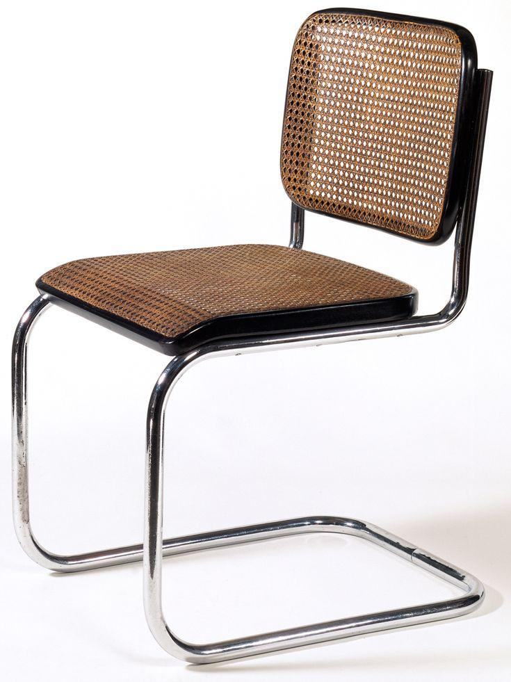 Chair, model B32, Marcel Breuer, Made by Gebrüder Thonet, Frankenberg, Germany, 1928  We had these growing up!