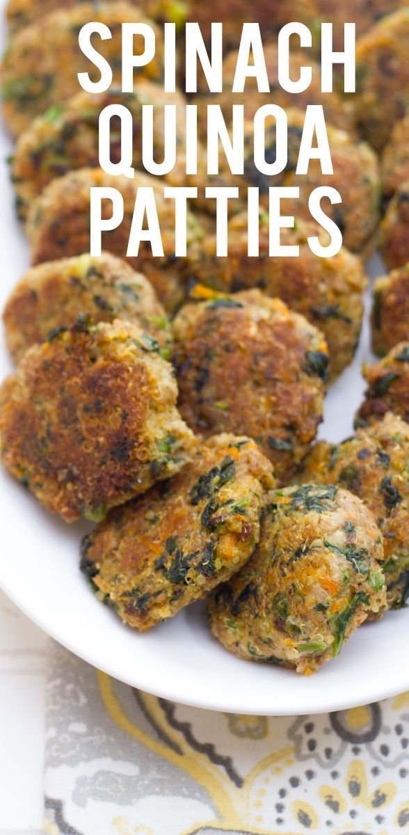 Spinach Quinoa Patties: pair this with your favorite dipping sauce and you have a fantastic, delicious snack / appetizer! You need to make these... Back To Her Roots