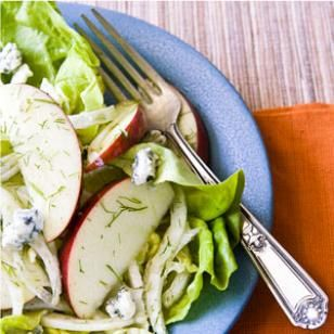 Apple & Fennel Salad with Blue Cheese Recipe  Had this for lunch and it is REALLY good!!!!