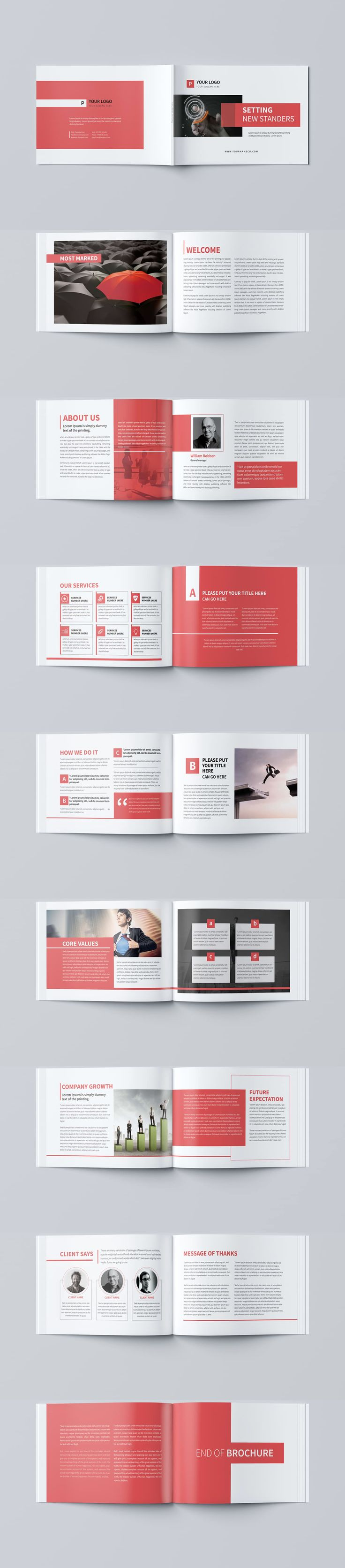 minimal business brochure template psd