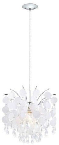 """Girls Beach Bedroom - EGLO Fedra Chandelier Ceiling Light 15"""" Diameter Chrome (affiliate link)"""