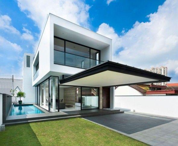 Modern Minimalist Tropical Home Design. RoadsModern HomesDream HomesMy ...