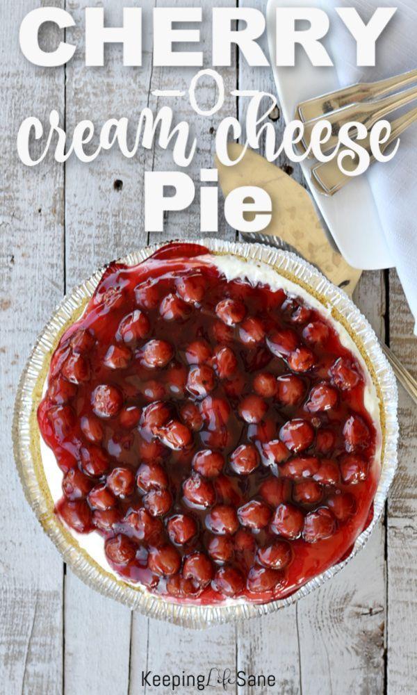 6 Ingredient Cherry O Cream Cheese Pie Recipe Recipes Cheese Pies Cream Cheese Pie
