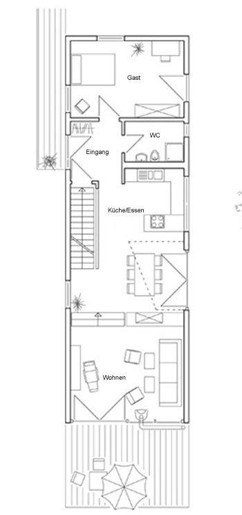 Grundrisse: Baufritz - - Individuelle Planung 'Müller Hohberg' (KfW-Effizienzhaus 70)