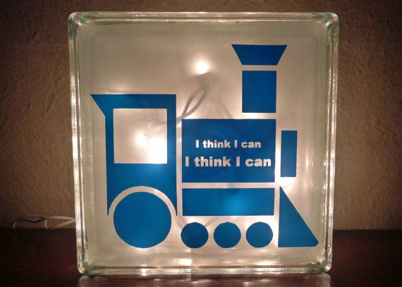 I can totally make this! Then use a Thomas stencil...Boys Little Engine that Could Train Light