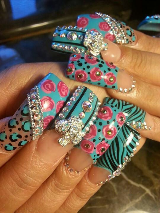 Best 25 bling nail art ideas on pinterest nail designs bling bling bling nail art designs prinsesfo Images