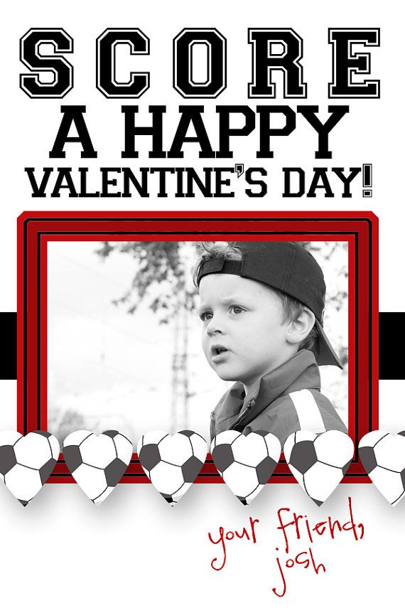 Soccer Valentine's Day Photo Cards can be by gwenmariedesigns