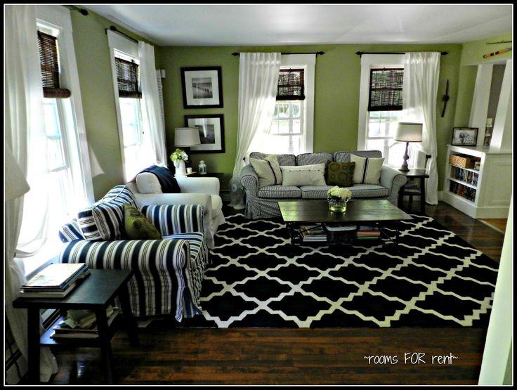 Living Room Love The Bright Green Amp Dark Navy Amp White