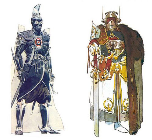 Character designs by Moebius: Concepts for the Imperial Sardaukar