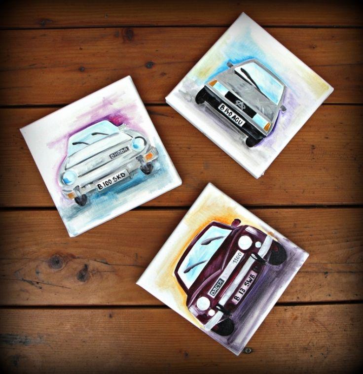 "Triptic ""Old Cars"""