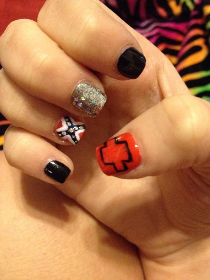 Chevy & Rebel Flag Inspired Nails
