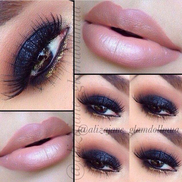 So pretty smokey glam and nude lips