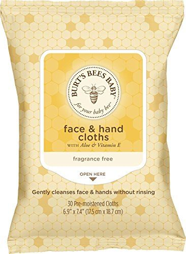 Burts Bees Baby Face & Hand Cloths 30 Count (Packaging May Vary)