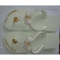 Resultado de imagen para Decoração de sandalias havaianas passo a passo