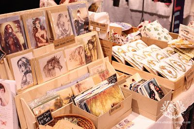 Ginger Kelly Studio: Craft market table. Plywood collapsible greeting card display