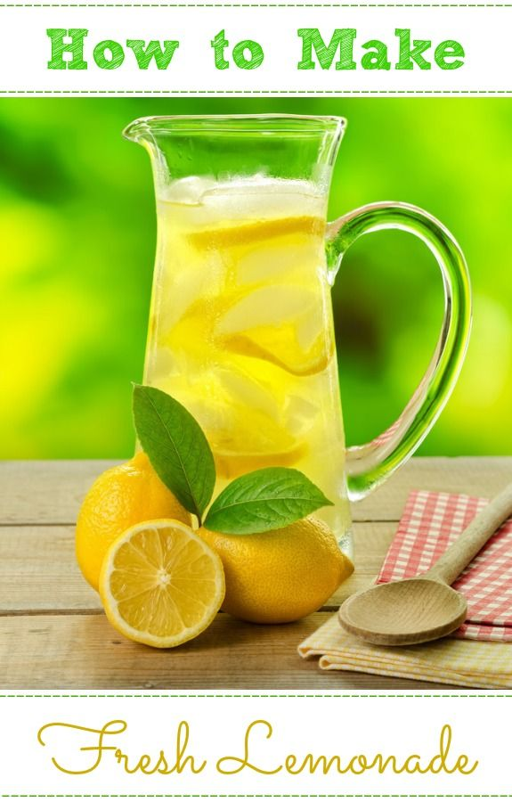 How to Make Fresh Lemonade