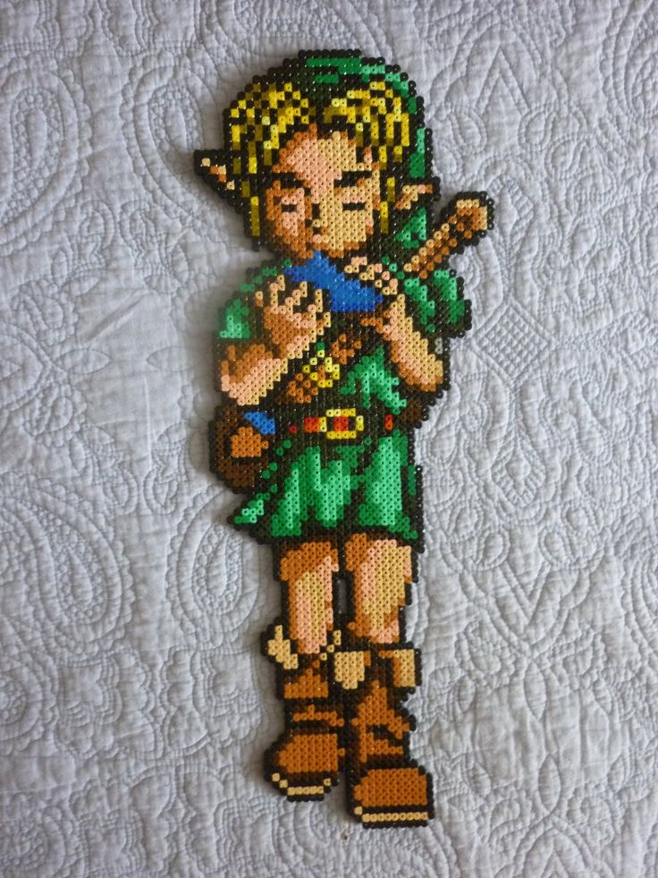 Link- Ocarina of Time - Perler beads by Poisonable on deviantART