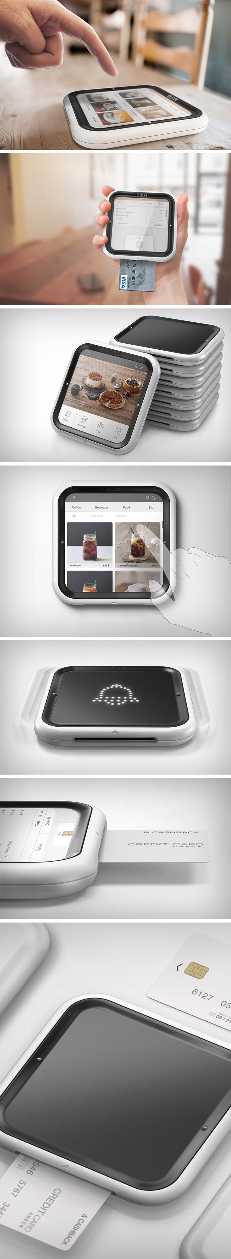 With the rising trend of automated restaurants where people literally have to interact with no one, comes the need to have technology and design back that scenario. Enter the Bellder, a tablet that takes care of everything for you from ordering, to notifying, to acting as a payment gateway. Each patron entering the restaurant gets handed a Bellder. Its design is sleek enough to seem appealing but bulky enough to not get stolen, or break.