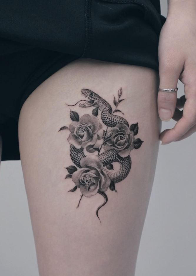100 Insanely Crazy Black Gray Tattoos That Are Truly Inspiring Thetatt Half Sleeve Tattoo Rattlesnake Tattoo Tattoo Sleeve Designs