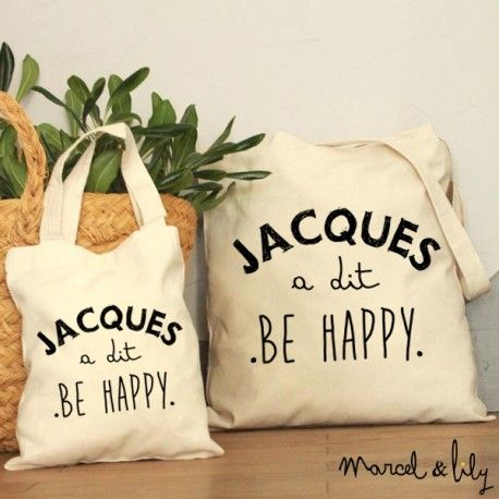 tote-bag Jacques a dit Be Happy - marcel et lily