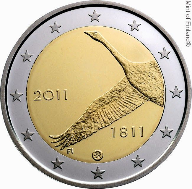 Finnish commemorative 2 euro coins 2011, The 200th anniversary of the Bank of Finland  Commemorative 2 euro coins from Finland
