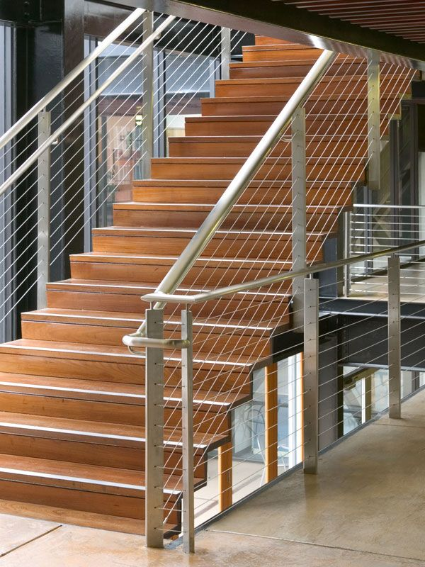 Charming Custom Cable Rail In Commercial Setting: CableRail Custom Assemblies In  Custom Commercial Stair Railing.