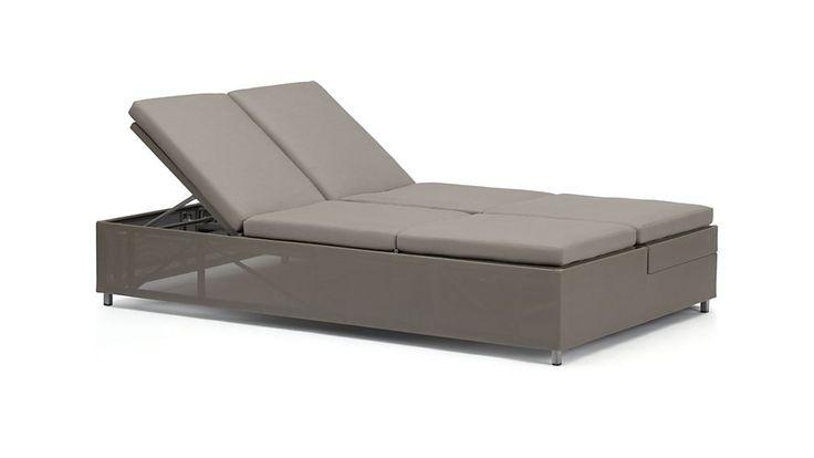 Dune Double Chaise Sofa Lounge with Sunbrella ® Cushions C&B
