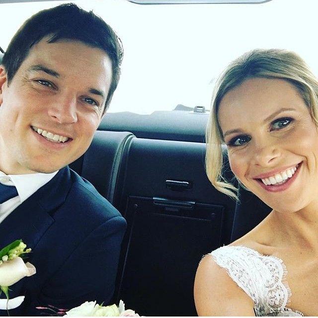 """Gorgeous blush bride @belindaoco looking fabulous with the new hubby! #hairbyabbie #makeupbyem #bride #geelongbride #wedding"" Photo taken by @blush_bar on Instagram, pinned via the InstaPin iOS App! http://www.instapinapp.com (11/05/2015)"
