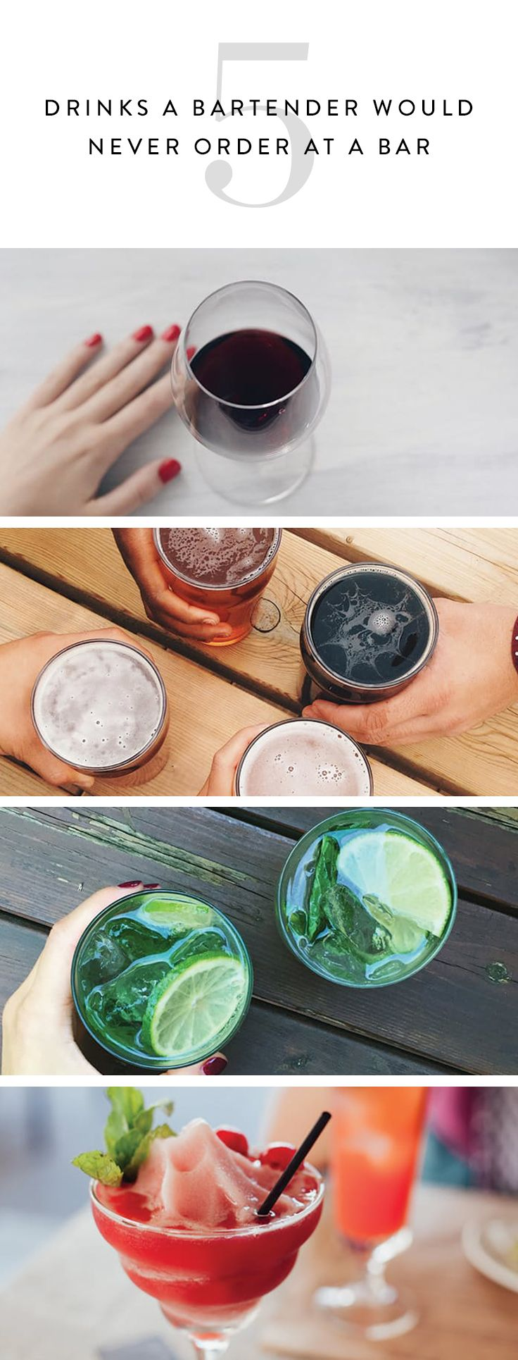 5 Drinks a Bartender Would Never Order at a Bar | Sweet ...