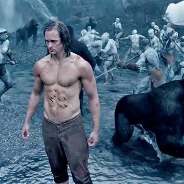 Hot: Alexander Skarsgard goes wild in The Legend of Tarzan trailer